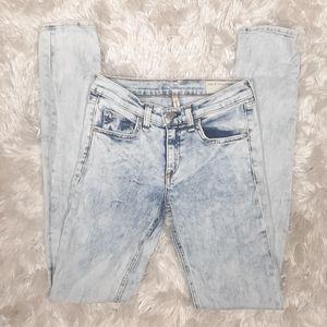 Rag & Bone Bleach Out Acid Wash Skinny Jeans 26